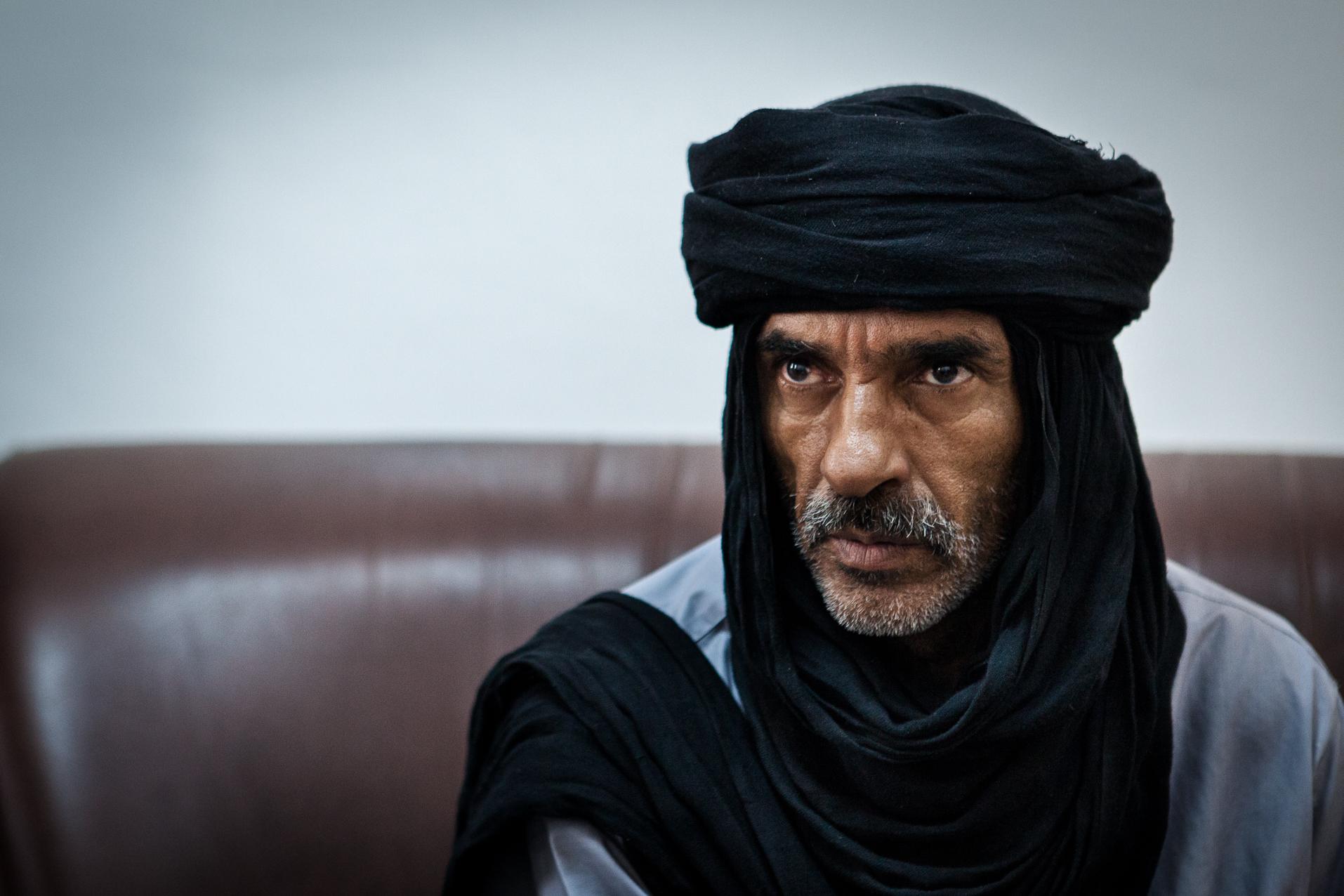 Zenten, 1er Juillet 2012. Moktar, chef guerrier de la ville de Zenten. Cette brigade, la plus puissante du pays, tient notamment Saif Al Islam en détention.