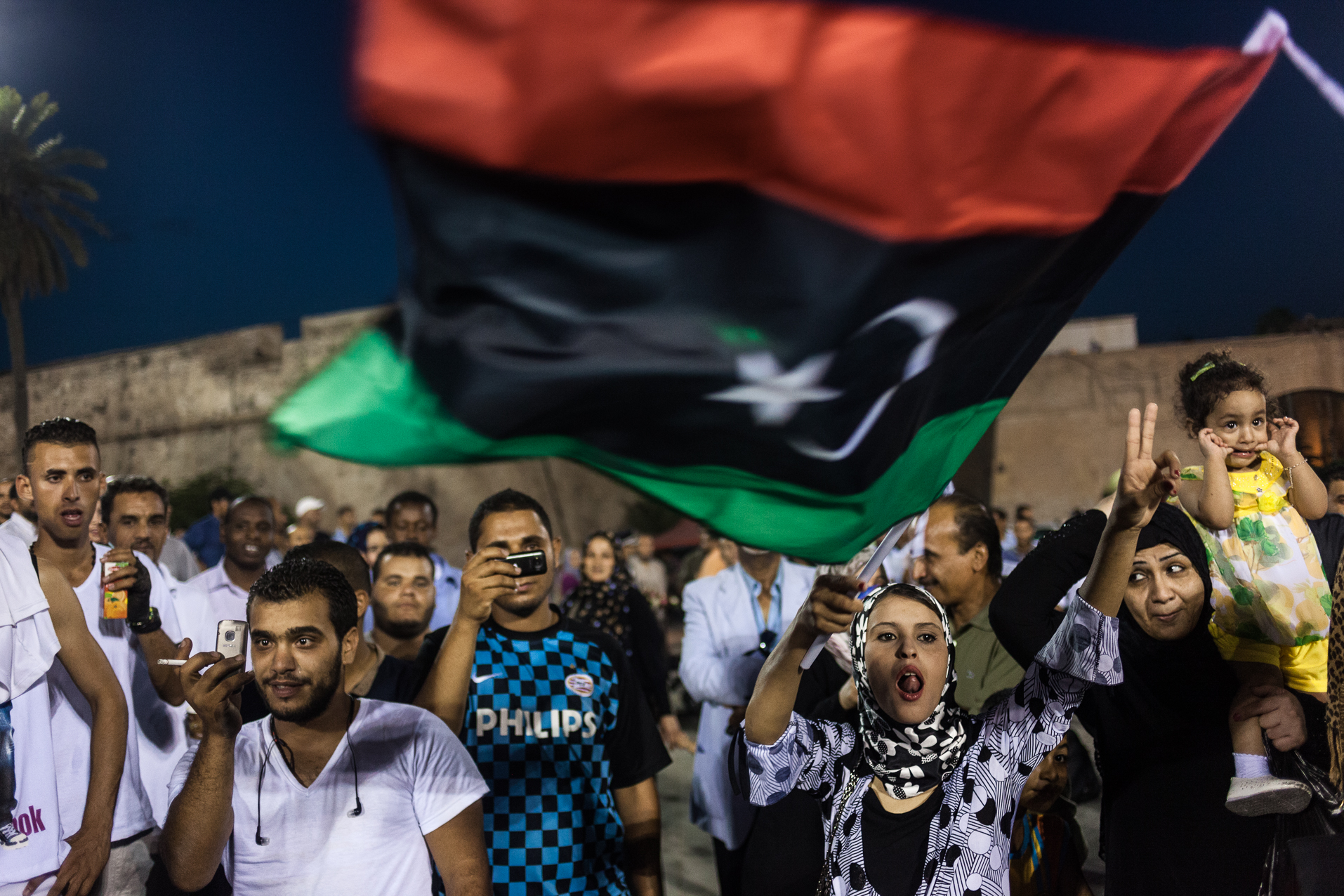 Tripoli, 5 Juillet 2012. Sur la place verte de Tripoli, deux jours avant les elections legislatives libyennes.  Tripoli, July 5, 2012. The Green Square in Tripoli, two days before the parliamentary elections in Libya.